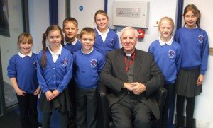 school councillors with bishop